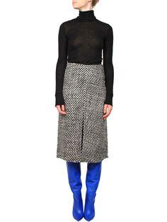 Mrs H - Isabel Marant Inko skirt Ecru/Black