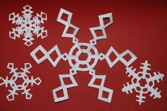 6 pointed snowflake how to. Love the designs!