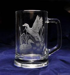 Купить пивной бокал дикие утки подарок охотнику в интернет магазине на Ярмарке Мастеров