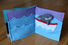 Personalized Felt Book Where's Shark by kathyandflick on Etsy