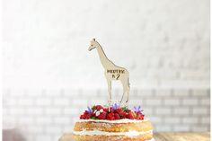Giraffe Wood Birthday Cake Topper |Animal Farm | Birthday Cake Decoration|Create own text|Custom Name and Age|Laser Cut|Birch Wood|Handmade Farm Birthday Cakes, Birthday Cake Toppers, First Birthday Parties, 2nd Birthday, First Birthdays, Wooden Cake Toppers, Custom Cake Toppers, Giraffe Cakes, Cake Sizes