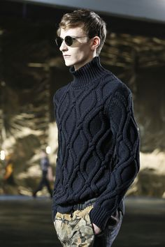 9b7380fb159d Dries Van Noten  menswear spring summer 2014 Hand Knitted Sweaters