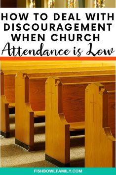 There are seasons in every church when attendance is down. Here are three ways to deal with discouragement when church attendance is low. Prayer Ministry, Youth Ministry, Ministry Ideas, Youth Devotions, Attendance Board, Small Group Bible Studies, Church Fellowship, Church Outreach, Pastors Wife