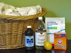 VDistilled white vinegar - Vinegar whitens, freshens, and softens fabrics. Add 1/2 to 1 cup of distilled white vinegar along with your regular laundry detergent. Don't worry about the vinegar scent; it will dissipate after drying. Vinegar may also be sprayed on spot stains and collar and underarm stains.