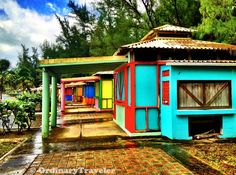 Piñones, Puerto Rico -- I wanna live where my neighbors wouldn't mind if I painted my house pink with some colorful accents! -TF