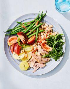 Main Dish Salads, Dinner Salads, Cooking Green Beans, Martha Stewart Recipes, Summer Tomato, Cooking Ingredients, Side Salad, Dinner Recipes, Dinner Ideas