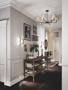 Home Room Design, Home Interior Design, Living Room Designs, Living Room Decor, Interior Decorating, Living Rooms, Modern Classic Interior, Hallway Designs, Cuisines Design