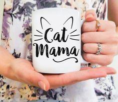 Mama Katze | Katze-Becher, Katze-Liebhaber-Geschenk, lustige Katze Becher, Crazy Cat Lady, Cat Mom Mug, Crazy Cat Mom, Katze Besitzer Geschenk, Katze besessen, Kitty Becher