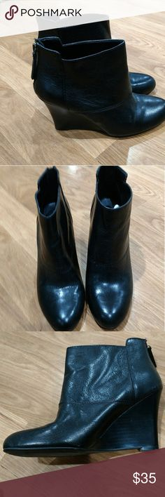 Nine West wedge booties Black nine West booties with a wedge heel brand new Nine West Shoes Ankle Boots & Booties