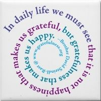 in daily life we must see that is is not happiness that makes us grateful but gratefulness that makes us happy.