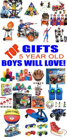 Top Gifts 5 Year Old Boys Want