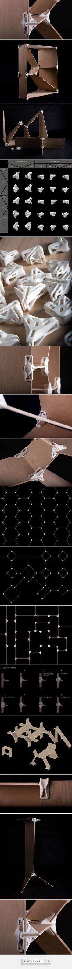 design and construct your own furniture with 3D printed joints - created via http://pinthemall.net