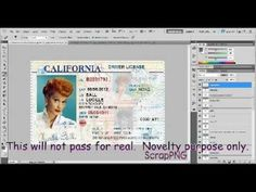 How To Edit A Novelty Drivers License Template In Photoshop