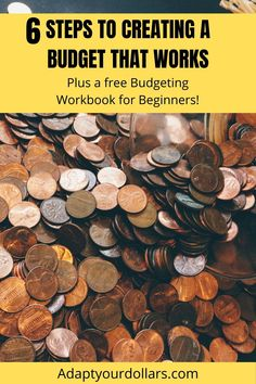 Do you need to make a budget because your spending is getting out of control? Here are 6 steps to creating a budget that works. Plus grab your free budgeting workbook to help you get started! Make Money Blogging, Money Tips, Money Saving Tips, Make Money Online, Work From Home Jobs, Make Money From Home, How To Make Money, College Student Budget, College Tuition