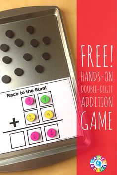 This FREE hands-on game that gets students practicing double-digit addition while using higher order thinking skills!