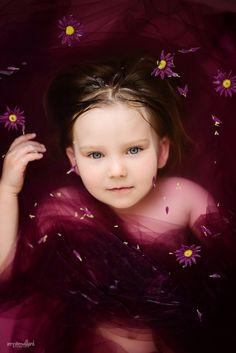 Milk bath alternative, Coloured bath water, purple, children photography, styled children photography, flowers in bathtub, tulle in bathtub, #kingston #children #photography
