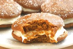 Fluffy Pumpkin Whoopie Pies with Bourbon Cream Cheese Filling