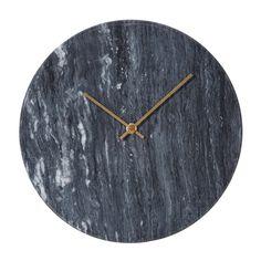 Marcella Marble Clock - Black