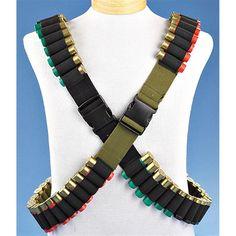 Set of 2 new jumbo 48 shotshell ammunition bandolier belts for shotgun shells Tactical Shotgun, Tactical Gear, Airsoft, Shotgun Cartridges, America's Army, Range Bag, Tac Gear, Tactical Clothing, Military Weapons