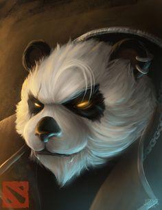 Fan art: Pandaren Brewmaster of DOTA, Justine Cruz on ArtStation at https://www.artstation.com/artwork/fan-art-pandaren-brewmaster-of-dota