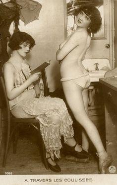 Parisian dancers backstage 1920