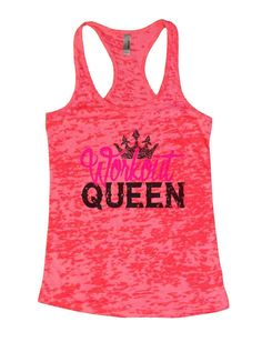 Workout QUEEN Burnout Tank Top By Womens Tank Tops