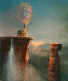 Pixar Drawing Adventure Is Out There by J K dotsweare] - Disney Up, Deco Disney, Film Disney, Arte Disney, Disney Magic, Disney Movies, Up Pixar, Pixar Movies, Disney Drawings
