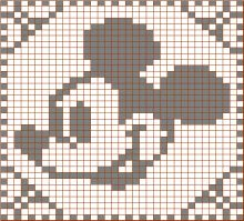Crochet stitches disney 49 ideas for 2020 Bobble Crochet, Graph Crochet, Filet Crochet Charts, Crochet Potholders, Knitting Charts, Crochet Motif, Crochet Stitches, Knitting Patterns, Crochet En Relief