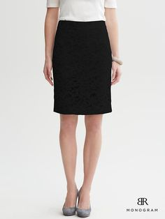 Banana Republic | Lace pencil skirt
