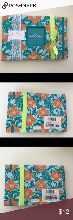 "🛍 3/$25 SALE NEW Lilly Pulitzer PHOTO ALBUM Great gift!! Lilly Pulitzer Pattern is ""Do the Wave""  Album has 24 pages and a photo window on front 6.75"" x 4.5"" Lilly Pulitzer Other"
