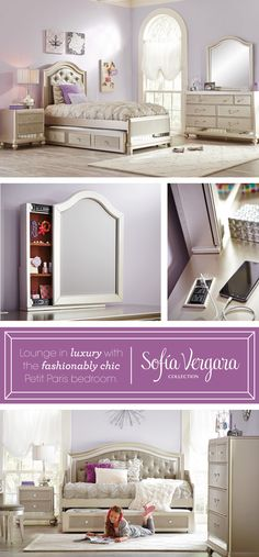 love for my daughter lounge in luxury with the fashionably chic petit paris bedroom - Sofia Vergara Furniture