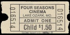 Four Seasons Cinema Ticket by Neato Coolville, via Flickr