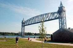 The popular walkway near the Railroad Bridge at the Buzzards Bay end of the Cape Cod Canal.