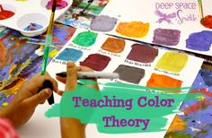 Teaching-Color-Theory via Deep Space Sparkle Teaching Colors, Teaching Art, Teaching Ideas, Art Activities For Kids, Art For Kids, Ms Project, Art Curriculum, Curriculum Planning, Middle School Art