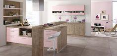 Cocinas en color rosa cuarzo de tendencia - http://www.decoora.com/cocinas-color-rosa-cuarzo-tendencia/