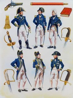 Admirals & Captains (1793-1812)... and all rather lovely!