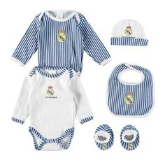 Real Madrid 5 PC New Born Gift Set - Royal/White - Baby