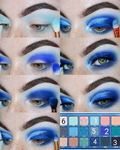 Blue Eyeshadow Looks Jeffree Star Eyeshadow, Makeup Tips Eyeshadow, Eye Makeup Remover, Eyeliner Hacks, Makeup Hacks, Hair Hacks, Makeup Morphe, Makeup Tutorials, Eyeshadows