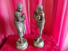 """Couple ancien en bronze signé """"Stella """""""