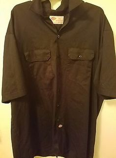 Dickies Black Authentic Work Wear Button Down Shirt