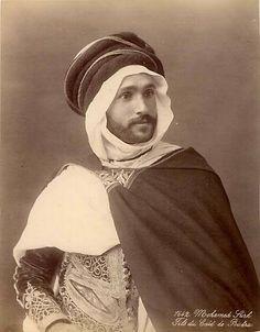 Son of the Biskra's Caïd, Algeria, 1900 .Mohamed Sirh, fils du Caïd de Biskra, c1900