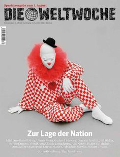 Excerpt in The Weltwoche magazine in German on the theme of xenophobia, plus profile written by Markus Schär.