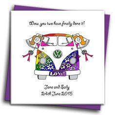 Gay Campervan Wedding Card