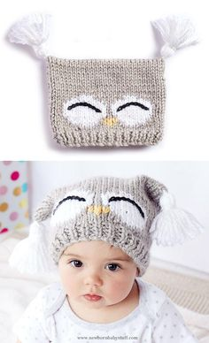 Child Knitting Patterns Free Knitting Sample for I'm a Hoot Hat - This sample for an owl child hat comes with a free video tutorial. Sizes: 6-12 months and 18-24 months. Designed by Bernat. Baby