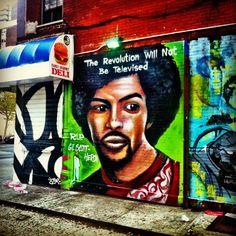 "New York City - tribute to Gil-Scott Heron at Alphabet City by Alberto ""Chico"" Garcia #streetart #NewYork #SasaYork"