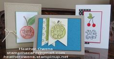 Stamp of the Month using the new Apple of My Eye stamp set from Stampin' UP!