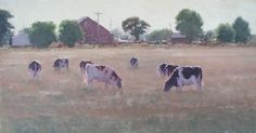 Grazing by Kathleen Dunphy Oil ~ 19 x 36