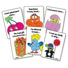 Thoughts and Feelings - A Sentence Completion Card Game - - Re-pinned by @PediaStaff – Please Visit http://ht.ly/63sNt for all our pediatric therapy pins