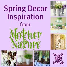 Spring decor ideas remodelaholic.com #spring #decor