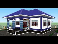 Settings - YouTube Two Bedroom House Design, House Arch Design, Village House Design, Bedroom House Plans, Small House Design, Modern House Floor Plans, Bungalow House Plans, Bungalow House Design, Craftsman Style House Plans